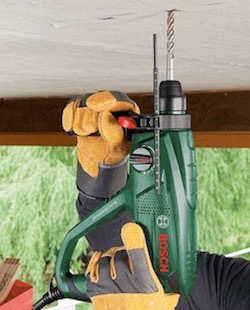 Image of the SDS hammer drill, the Bosch PBH 2100 RE SDS+