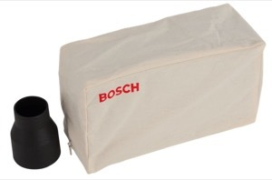The dust bag and adaptor for the Bosch PHO 1500 planer