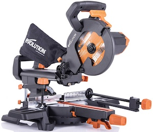 The Evolution R210SMS+ Mitre Saw