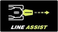 Image of the logo for Ryobi's Line Assist feature found on some jigsaw models