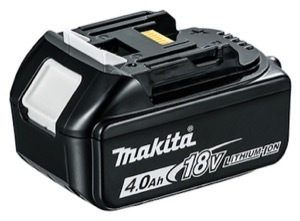 An 18V 4.0Ah battery that can be used with the Makita DTD152Z impact driver