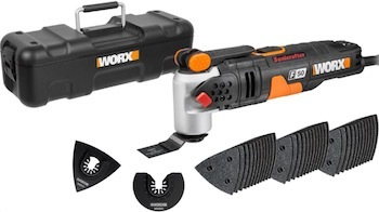 Picture of the WORX WX681 F50 oscillating multi-tool