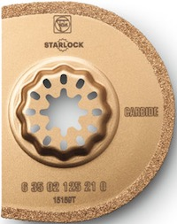 Oscillating tool carbide segment saw blade