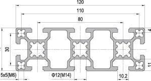 40 x 120 Aluminium Modular Profile - 8 Slots - DIY-Geek