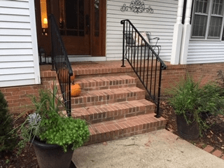 Shop Diy Wrought Iron Handrail Handrails For Indoor Outdoor Steps   Exterior Handrails For Brick Steps   Staircase   Vinyl Railing   Wrap Around   Deck Railing   Wood