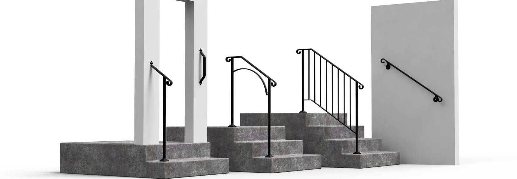 Shop Diy Wrought Iron Handrail Handrails For Indoor Outdoor Steps   Stair Rails For Elderly   Stair Climbing   Down Stairs   Wood   Cmmc Handrail   Pipe