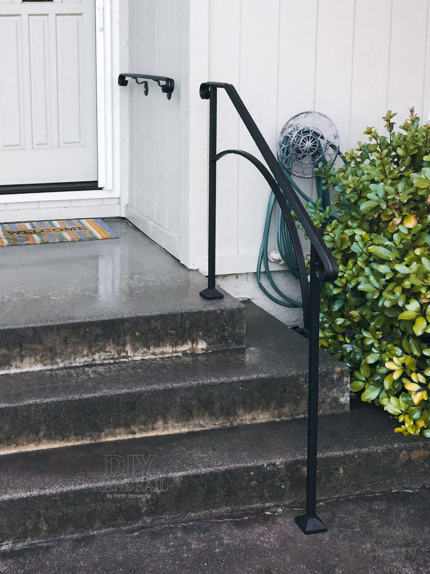 Wrought Iron Outdoor Handrails Custom Handmade Railings   Iron Handrails For Outdoor Steps   Antique   Deck   Front Door   Entrance   Ornamental