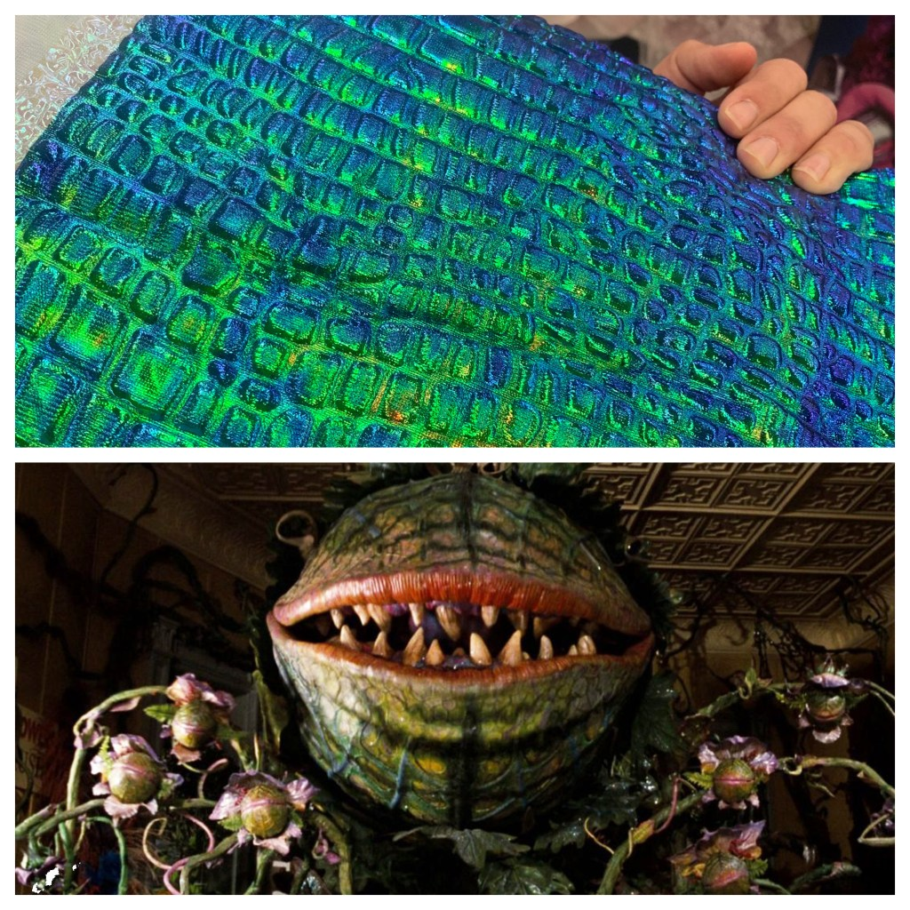 audrey 2 halloween costume - the perfect fabric!