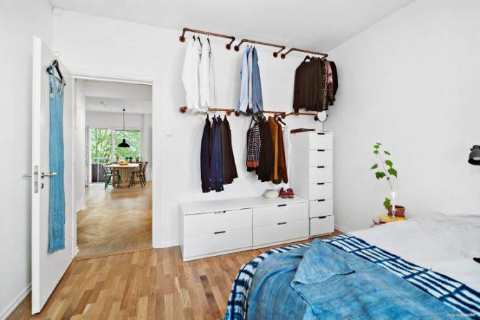 Closet apartamento escandinavo