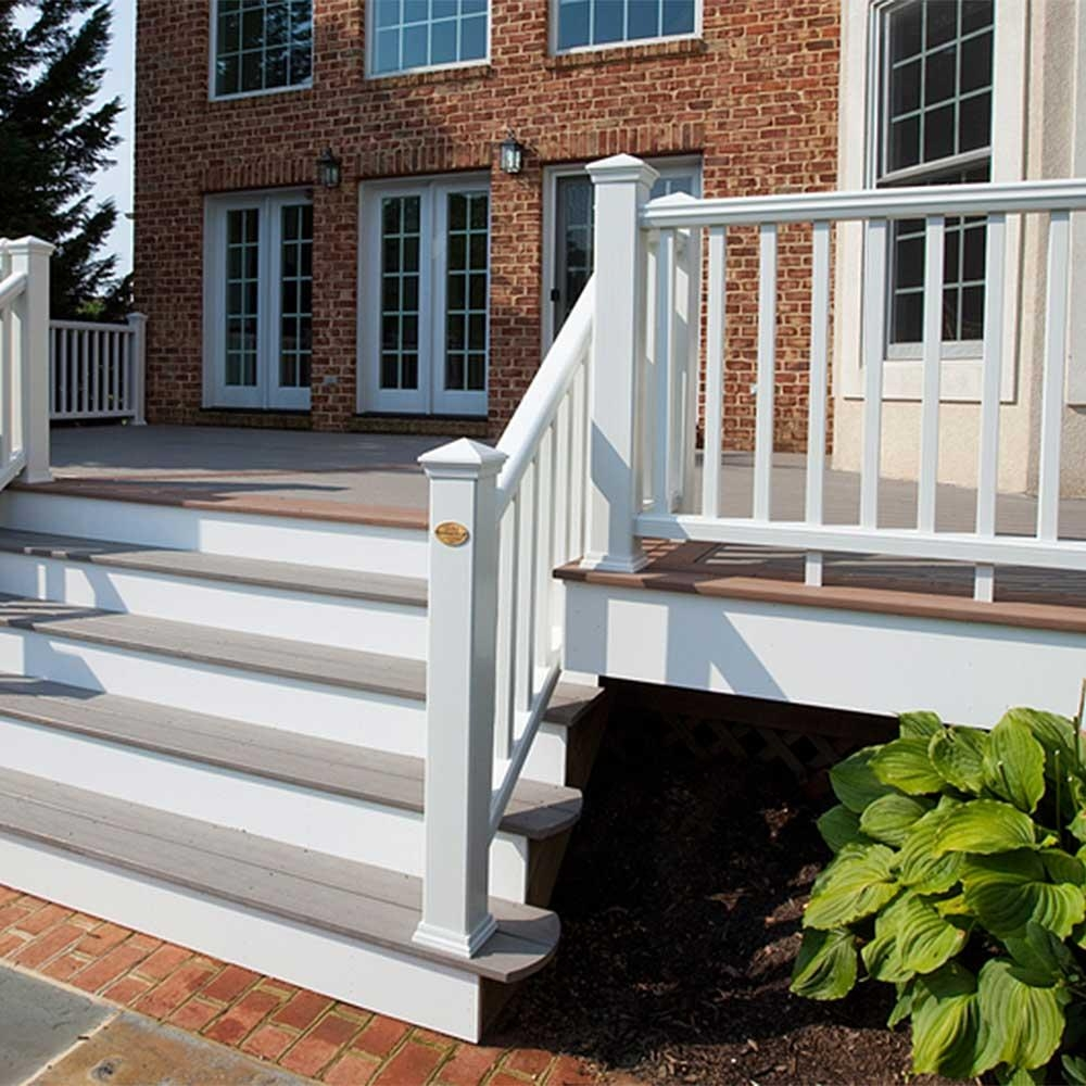 Transcend Rail Kit With Square Balusters 36 Trex   Trex Enhance Stair Railing   Trex Deck Railing Installation   Clam Shell   Lighting   Installation Instructions   Composite Decking