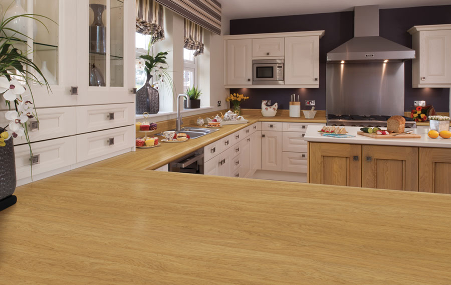 Swedish Oak Axiom Formica Laminated Worktop