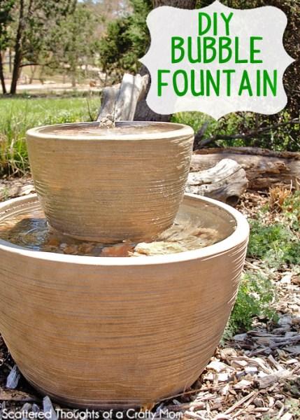 diy garden fountain Easy DIY Bubble Fountain