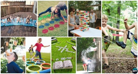 DIY Summer Outdoor Games Party Kids Adults