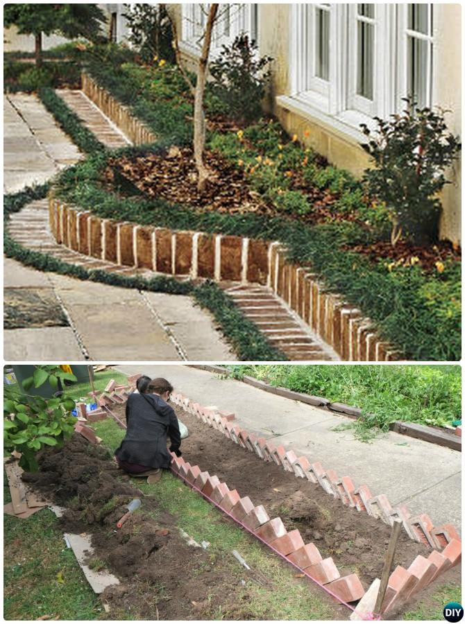 Creative Garden Bed Edging Ideas Projects Instructions on Backyard Border Ideas  id=29539