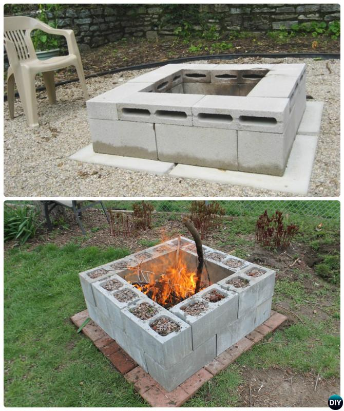 DIY Cinder Block Garden Projects Instructions on Simple Cinder Block Fireplace id=27123