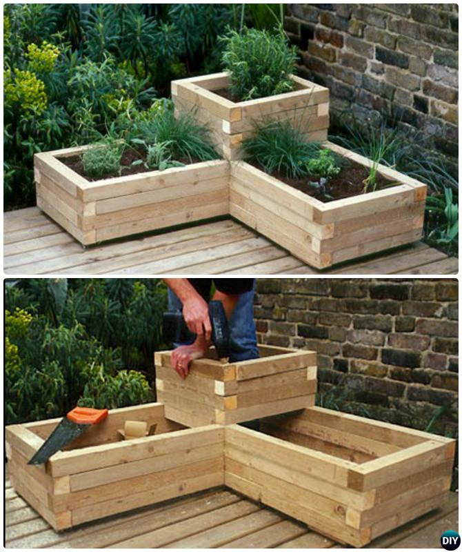 Raised Corner Garden Planter