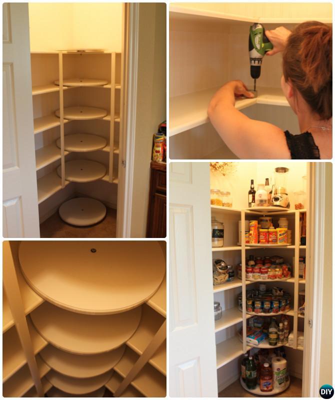 DIY Rotating Lazy Susan Tutorials Home Organization