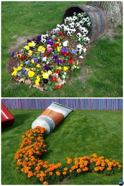 flower garden ideas and decorations DIY Garden Art Decorating Ideas Instructions