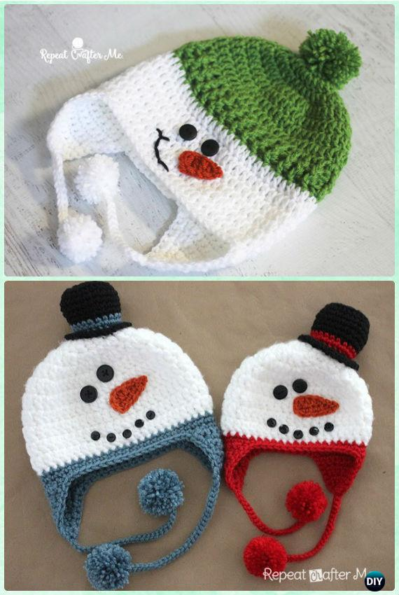 DIY Crochet EarFlap Hat Free Patterns Picture Instructions
