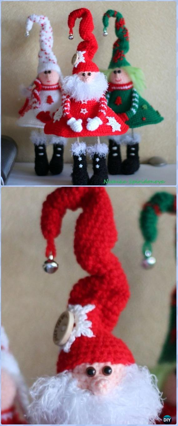 Ornament Santa Face Crochet Pattern Free