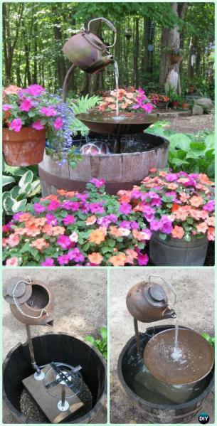 diy garden fountain ideas DIY Garden Fountain Landscaping Ideas & Projects with