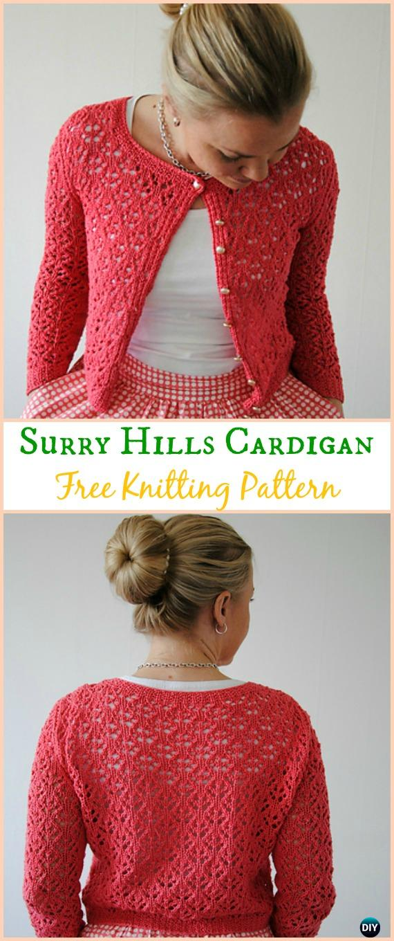 Easy Suumer Cardigan Knitting Patterns