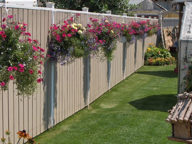 Backyard Garden Fence Decoration Makeover DIY Ideas on Decorations For Privacy Fence id=65172