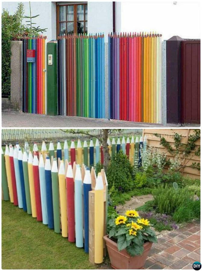 Backyard Garden Fence Decoration Makeover DIY Ideas on Backyard Wall Decor Ideas  id=62910