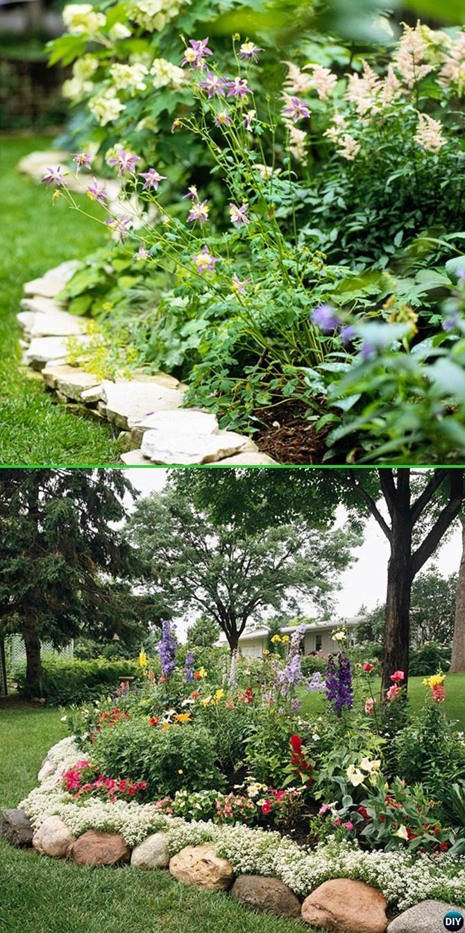 Creative Garden Bed Edging Ideas Projects Instructions on Backyard Border Ideas  id=56782