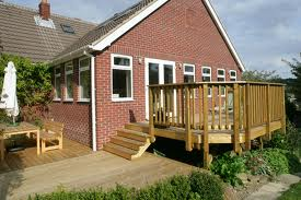 Garden decking designs split level decking the self for Split level garden decking