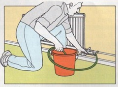 add descaler or inhibitor to the central heating system
