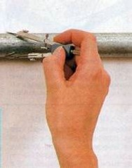 check the external diamater of a leaking pipe or broken water pipe