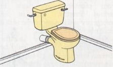 close coupled toilet cistern