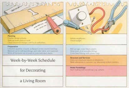 schedule for decorating
