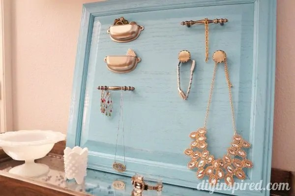 Repurposed Cabinet Turned Jewelry Organizer DIY Inspired