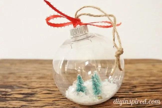 DIY Snow Globe Ornaments DIY Inspired
