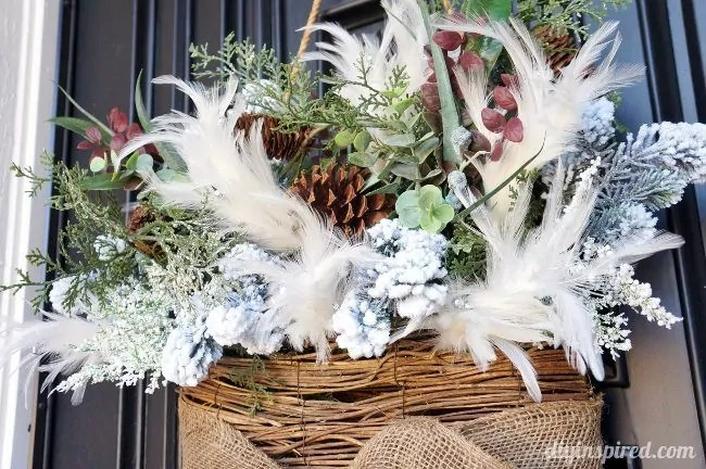 Winter Wreath For After Christmas DIY Inspired