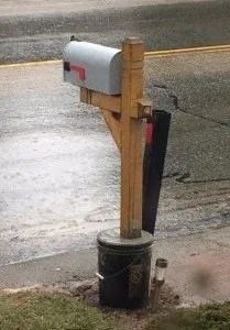 How to install a mailbox post in the winter when the ground is frozen