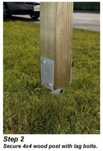 How To Install A Mailbox Post Without Concrete Diy Mailboxes
