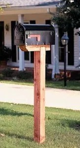 how to install a mailbox post without concrete