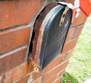 How to replace mailbox in a brick enclosure
