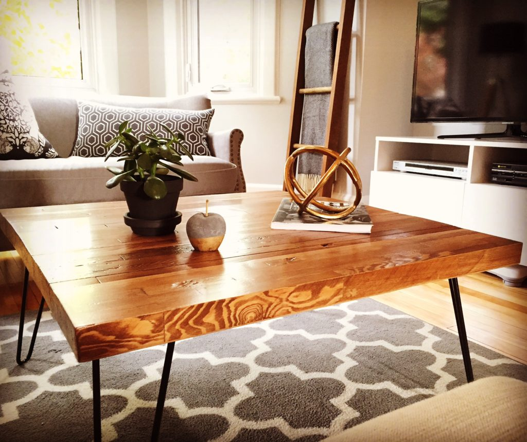 Hairpin Leg Butcher Block Coffee Table Diy Montreal