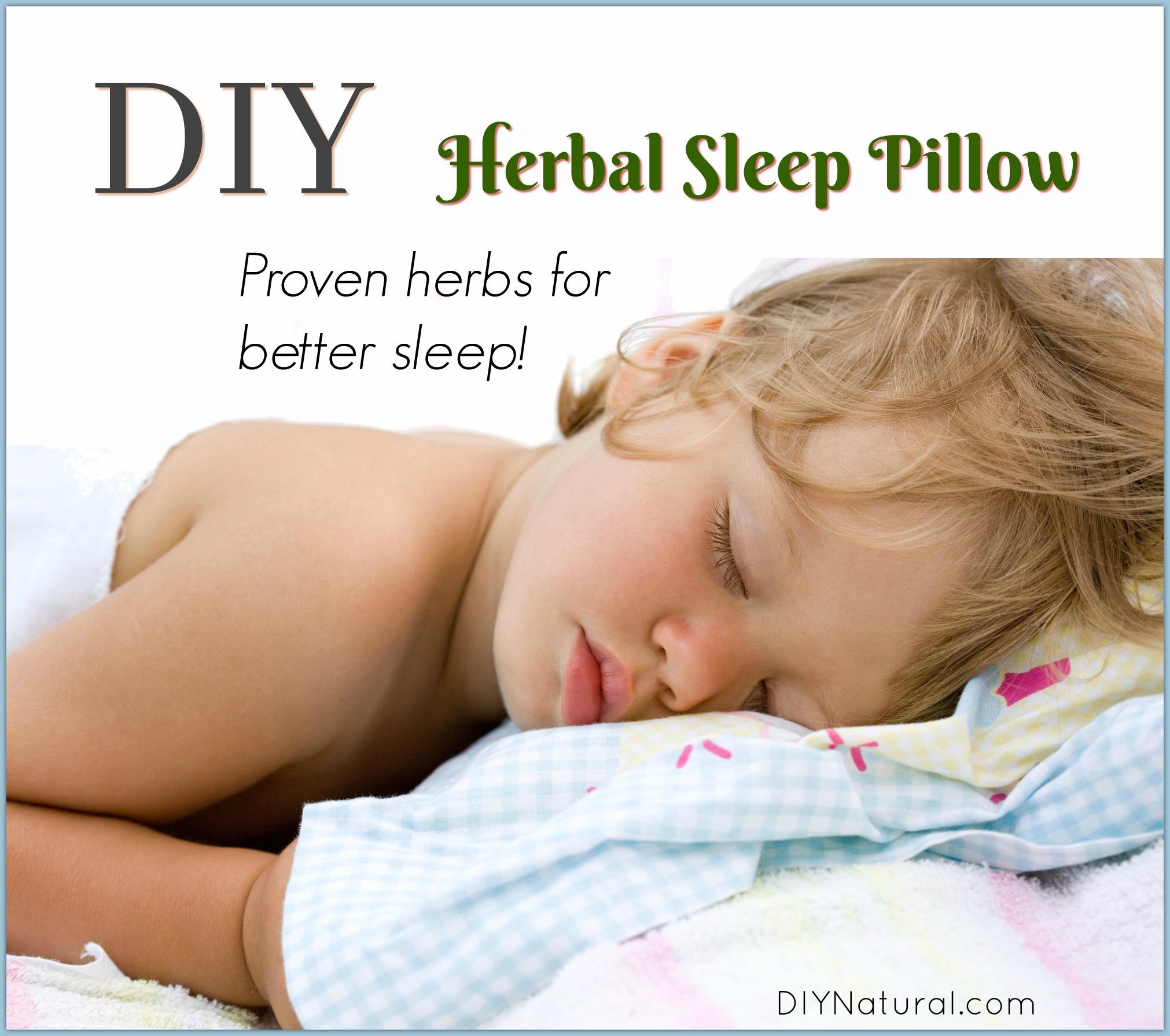 homemade bedtime dream pillow diy natural