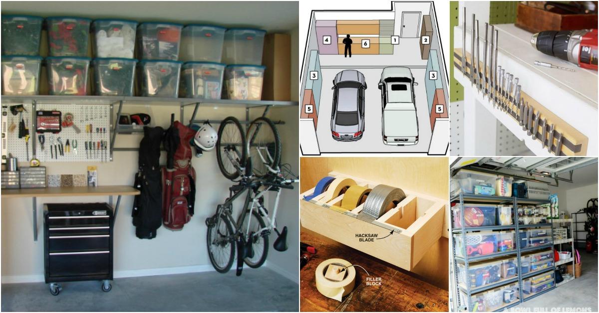 49 Brilliant Garage Organization Tips, Ideas and DIY ... on Organized Garage  id=50039
