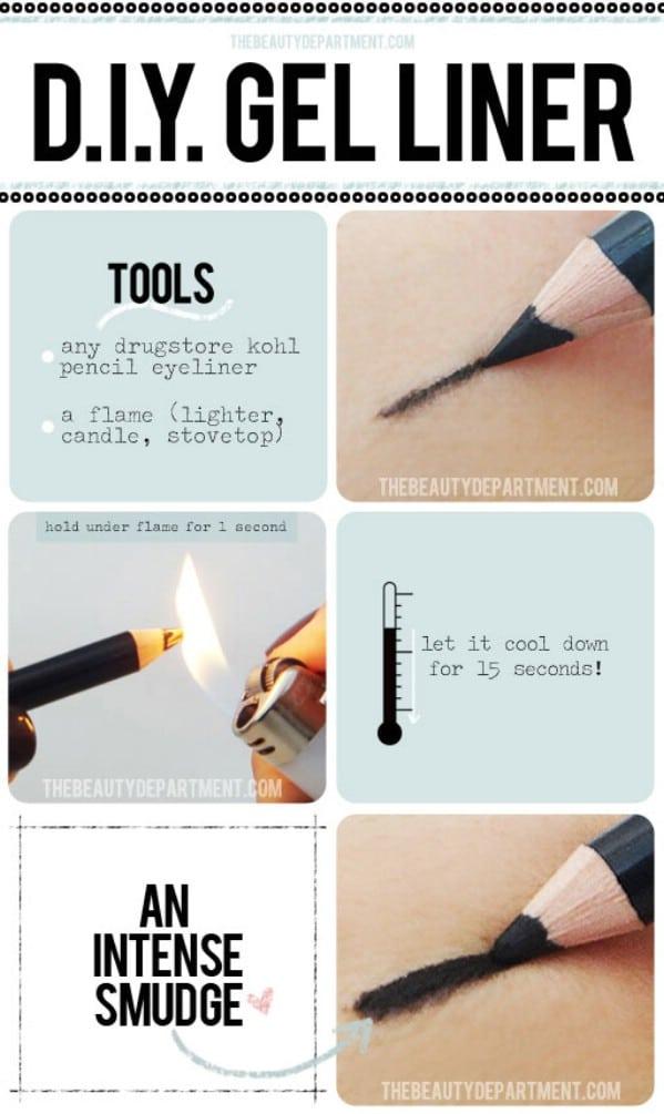 Make Your Own Gel Eyeliner - 40 DIY Beauty Hacks That Are Borderline Genius