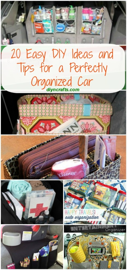 20 Easy Diy Ideas And Tips For A Perfectly Organized Car Diy Crafts
