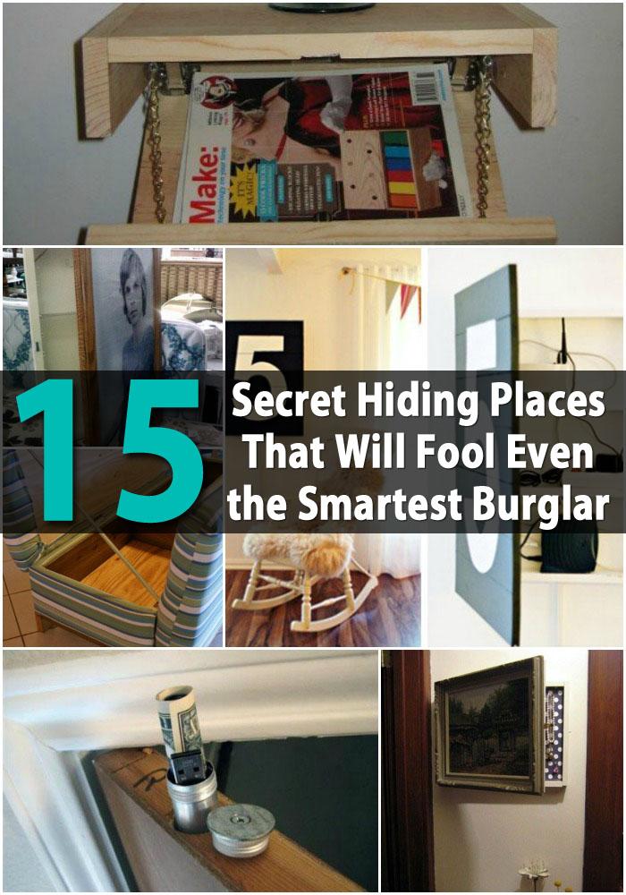15 Secret Hiding Places That Will Fool Even The Smartest
