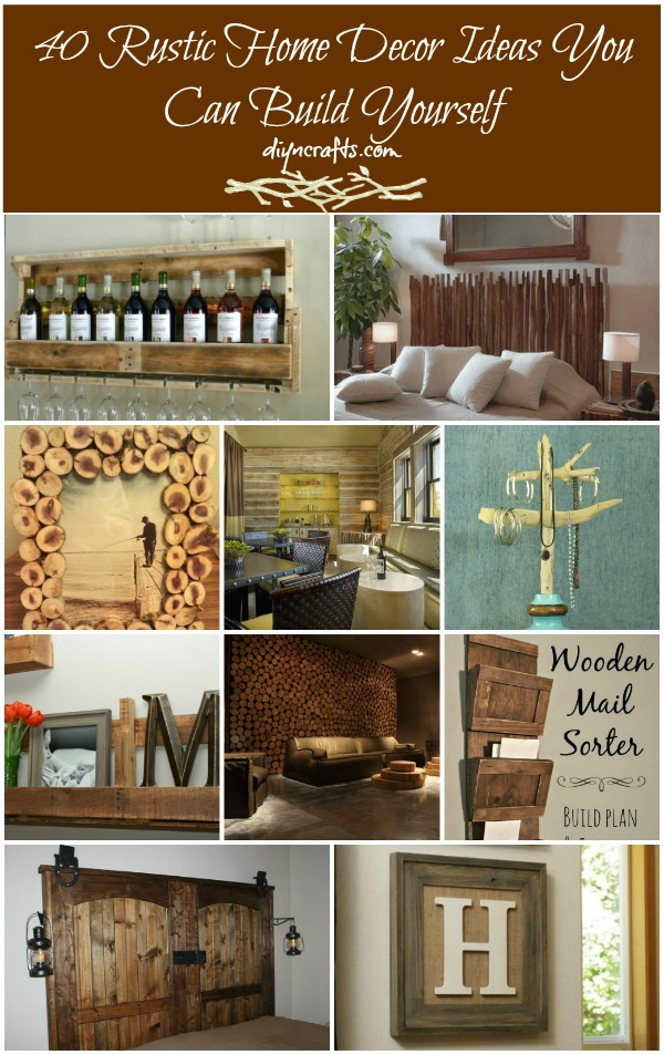 40 Rustic Home Decor Ideas You Can Build Yourself   DIY   Crafts 40 Rustic Home Decor Ideas You Can Build Yourself
