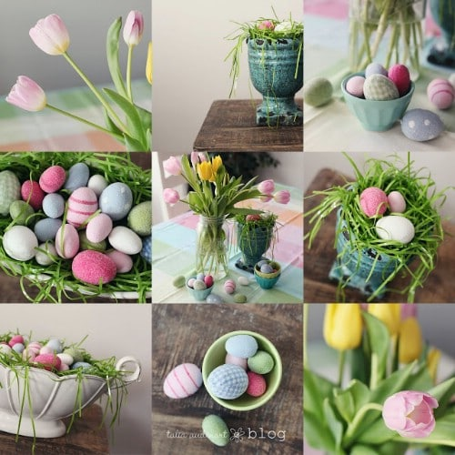 Bunny Garland - 80 Fabulous Easter Decorations You Can Make Yourself
