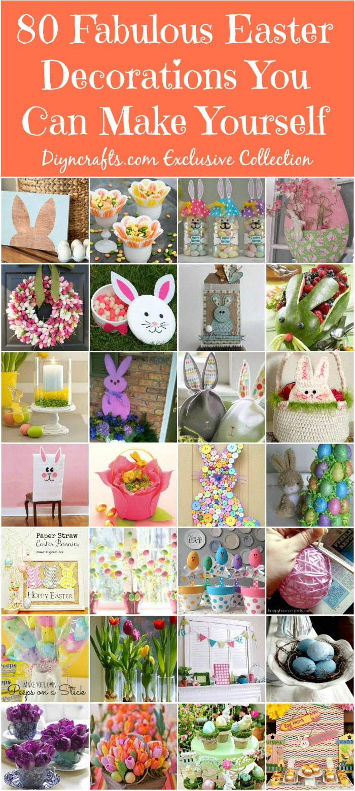 80 Fabulous Easter Decorations You Can Make Yourself - Cute and creative Easter decorating ideas!